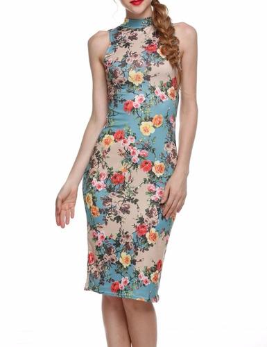 tsuki moda asiatica: vestido fiesta flores floreado sexy