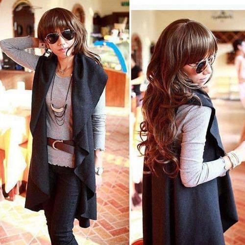 tsuki moda japonesa: abrigo saco poncho moderno mujer
