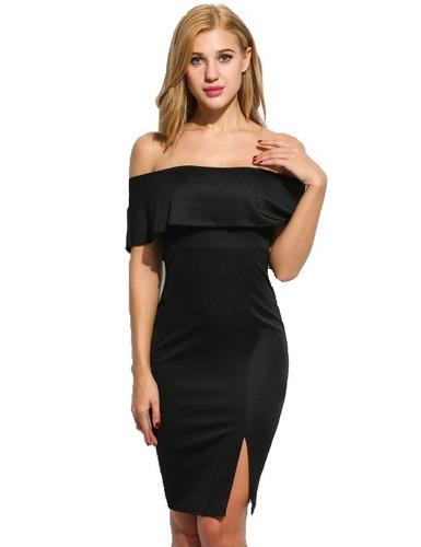 tsuki moda japonesa: sexy vestido noche fiesta sin hombros