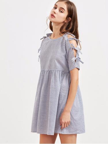 tsuki moda japonesa: vestido corto moños lineas tierno sexy