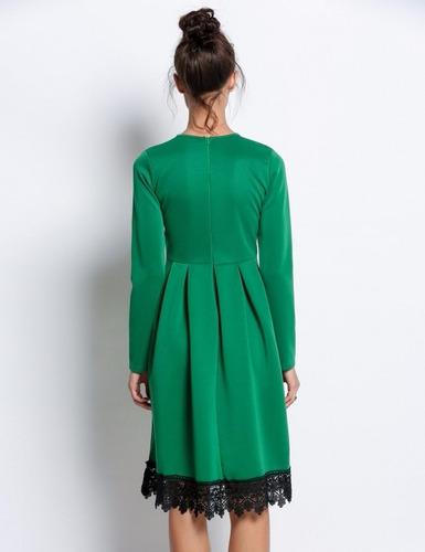 tsuki moda japonesa: vestido fiesta encaje noche elegante
