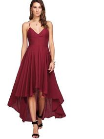 c9948a558900 Vestido De Tienda Lineas Vestidos - Vestidos de Mujer Largo Bordó en ...