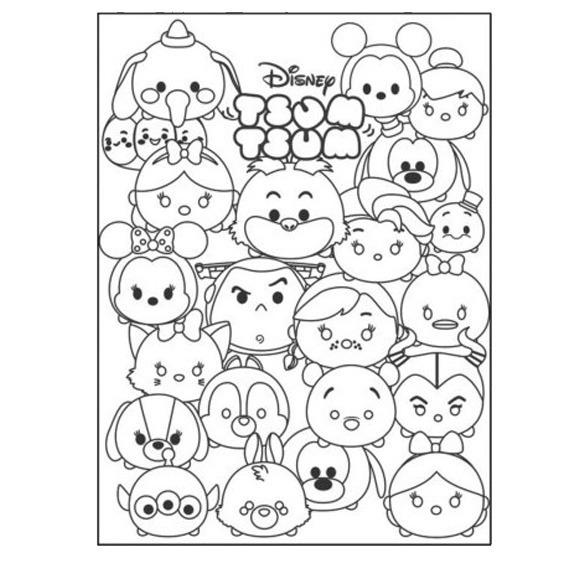 Tsum Tsum - Libro Para Colorear Y Actividades - $ 8.50 en Mercado Libre