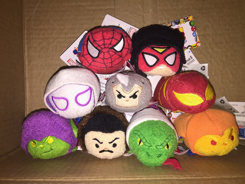 tsum tsum spiderman marvel set 9 pzas envío gratis