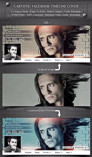 ttb3v 5 portadas de facebook editables photoshop diseñadores