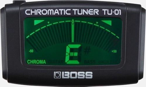 tu-01 afinador clip cromatico contato boss p/ guitarra baixo