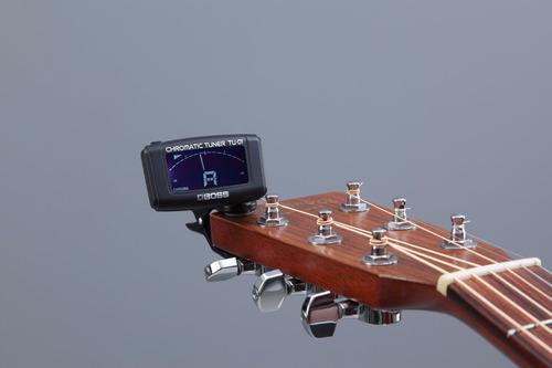 tu-01 afinador clip cromático tu01 boss p/ guitarra baixo