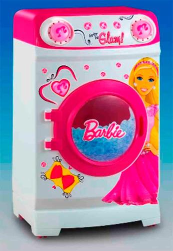 tu primera lavarropas glam con accesorios barbie babymovil
