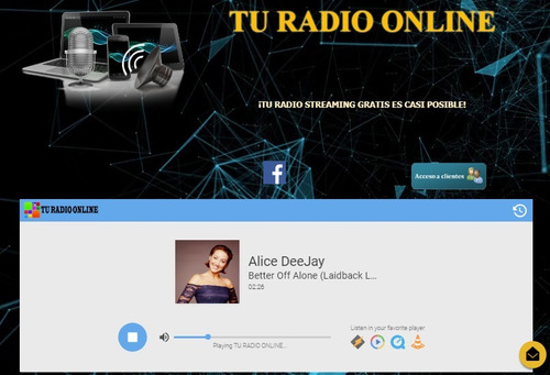 tu radio streaming platino por internet con ssl ilimitado
