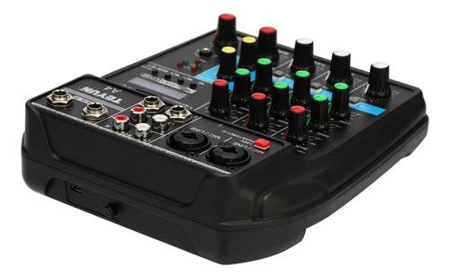 tu04 bt consola de mezcla de sonido grabar 48v phantom power