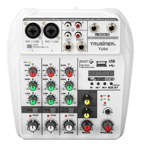 tu04 bt - monitor de alimentación phantom de grabación de la
