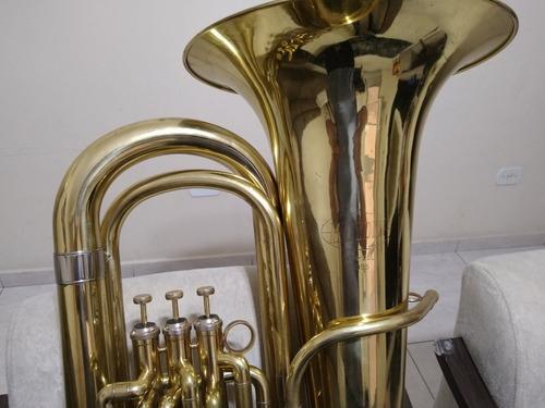 tuba hoyden 4/4 sib 3 pistos dourada - bombardão htb25l top