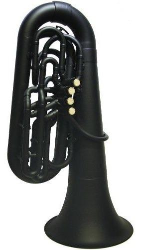 tuba plástica negra en bb (sib) parquer c/ funda