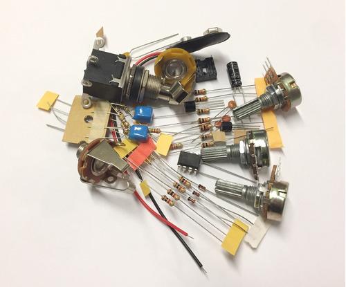 tube screamer - kit de montagem c/ chaves clipagem