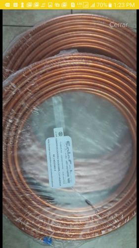 tubería de cobre 3/4 arc, flexible