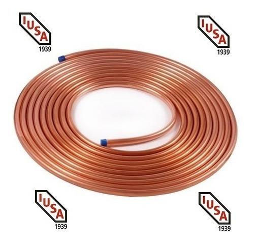 tuberia de cobre flexible 1/4  rollo 15.24 mts. tienda