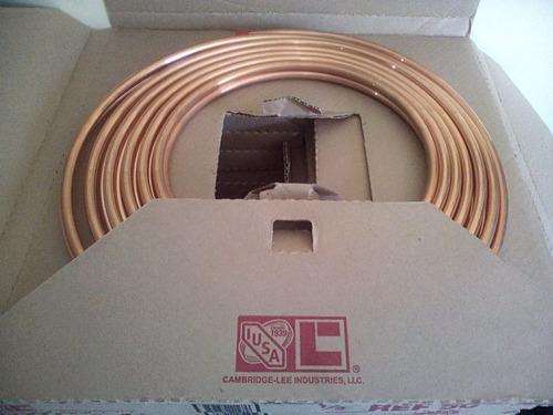 tubería flex, de cobre 1/2 precio x metro