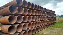 tubería petrolera 24  en 3/8 x 11.80 mts de largo