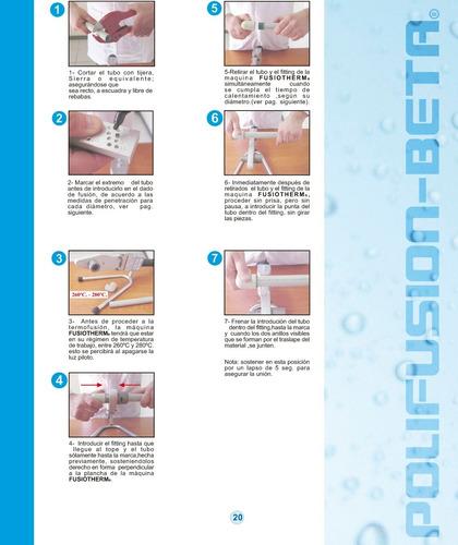 tuberia termofusion agua caliente 25mm (valor metro lineal)