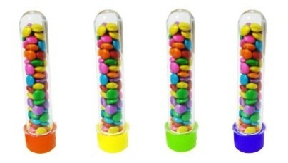 tubetes acrílico com tampa 30 und 13cm