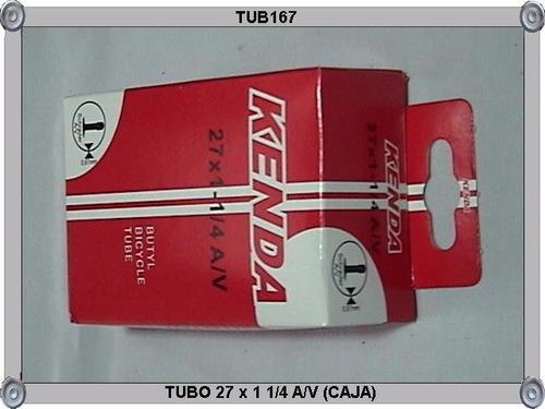 tubo 27 x 1 1/4 a/v (caja)