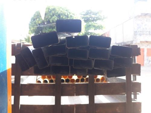 tubo 2x1 6mtrarmados de dos angulos de 1.3mm galvanizados