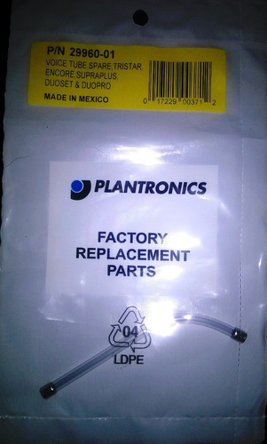 tubo acustico p/n 29960-01 supraplus plantronics x congreso