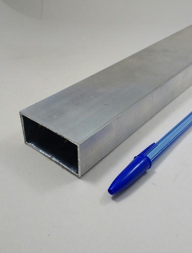 tubo aluminio retangular 5,08cm x 2,54cm x 2,00mm c/50cm
