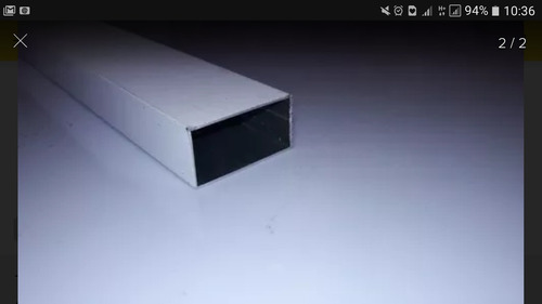 tubo aluminio retangular 50x25 e tampas kit montagem