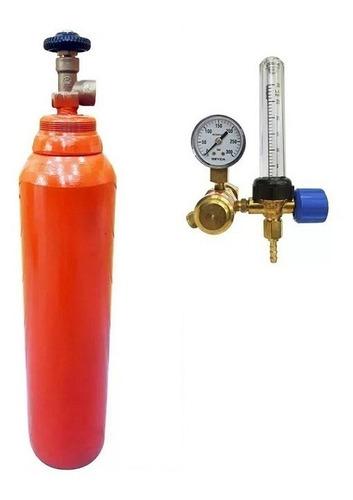 tubo argon 1 metro³ + regulador con caudalimetro marca liga