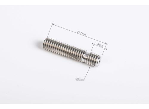 tubo barrel m6 inoxidable con teflon para hotend tipo mk8/7