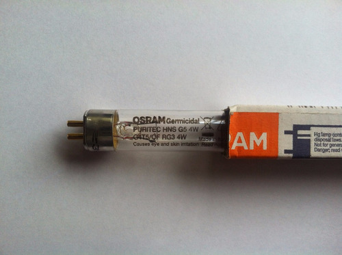 tubo bombillo lampara osram germicida 8w osram 28.5 ctms