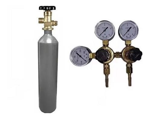 tubo co2 de 1 m3 + regulador 2 salidas p/ carbonatar cerveza