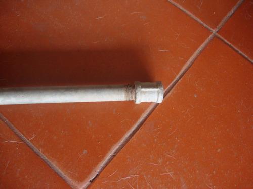 tubo de 1/2 galvanizado de 6 metros, 1, 8o y 1 m