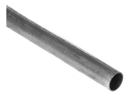 tubo de acero galvanizado 1/2 pulg.p/ gas, agua, aceite 6mt