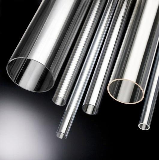 Tubo de acr lico cristal sem costura r 32 00 em mercado - Tubo plastico rigido ...