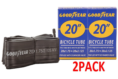 tubo de bicicleta goodyear 20  (20x1.75 to 20x2.125) 2pack