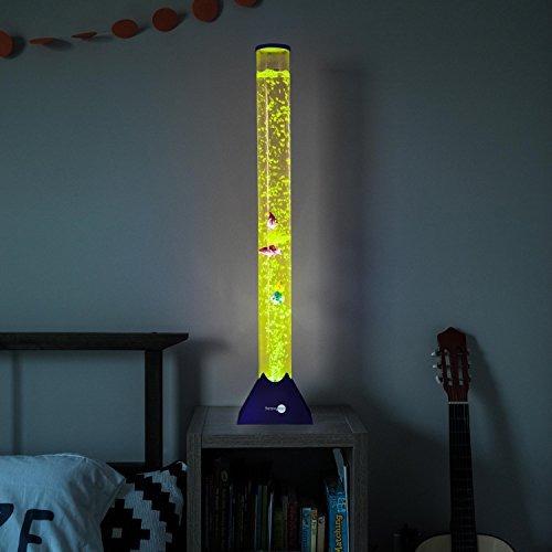 tubo de burbujas lámpara de pie w 10 fish-sensorymoon 3.9 pi