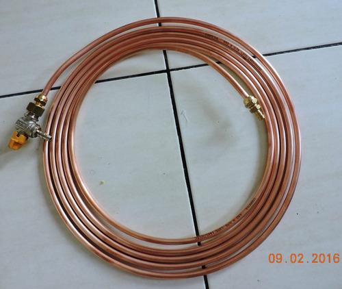 Tubo de cobre 3 8 39 flexivel gas refrigera o 7mts - Tubo de cobre para gas ...