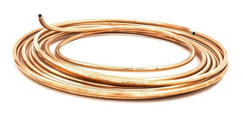tubo de cobre flexible 6 mts 3/8 usos generales profesional
