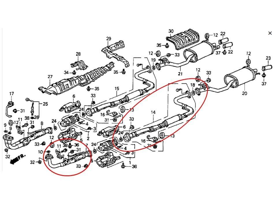 Tubo De Escape Honda Accord 93consultar Precio
