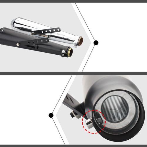 tubo de escape universal para motocicleta racer.