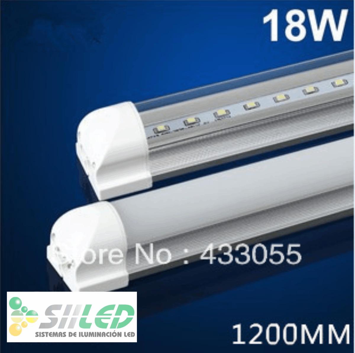 Tubo de led t8 de 18w con base de aluminio - Lamparas de tubo led ...