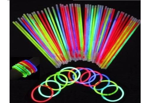 tubo de pulseiras neon ( com 100 unidades) mais brinde
