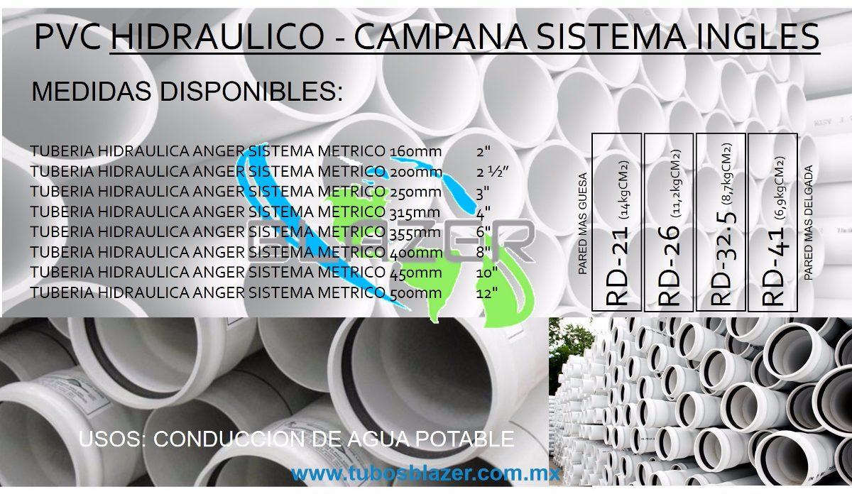 Tubo de pvc hidraulico cedula 40 en mercado libre for Tubo corrugado rojo precio