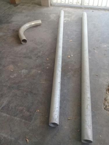tubo emt  4 pulgadas galvanizado 3 metros cada uno sin rosca