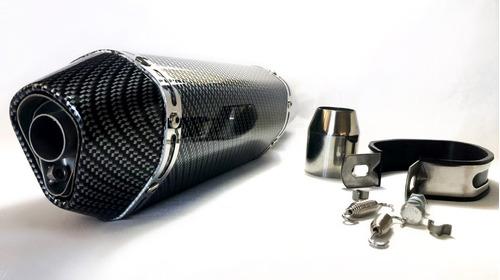tubo escape moto tipo yoshimura japan carbono