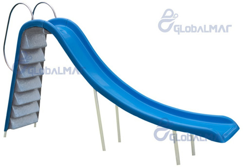 tubo escorregador em fibra para piscina grande corrimão
