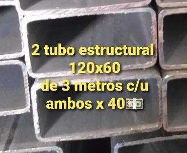 tubo estructural 120x60 de 3 metros