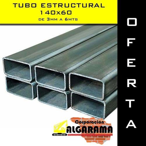 tubo estructural 140x60 3.0mm de 6 mts nuevos en oferta